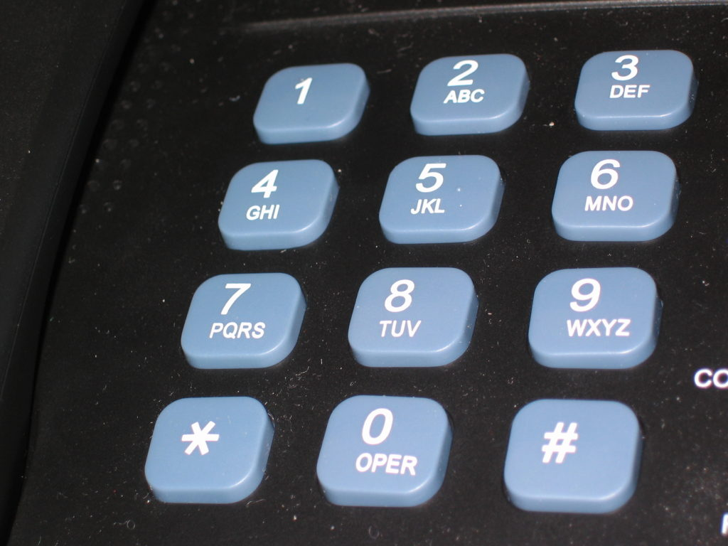 A phone pad.